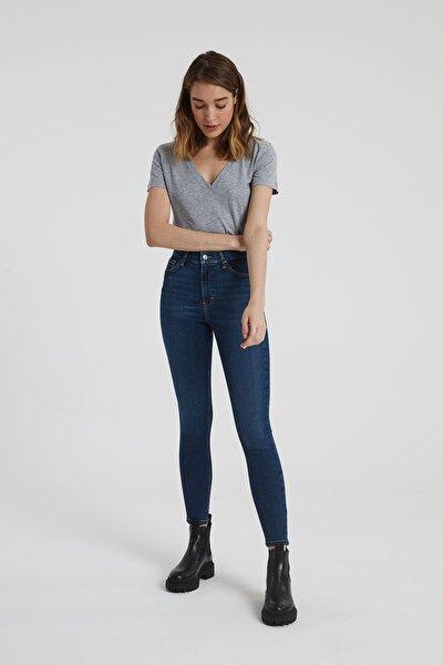 Judy Koyu Taş Indigo Yüksek Bel Skinny Fit Jean Pantolon
