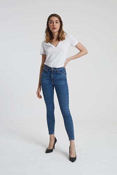 Judy Orta Taş Indigo Yüksek Bel Skinny Fit Jean Pantolon
