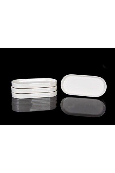Bone Porselen 20x9 Cm 6'lı Oval Kayık Tabak 10340