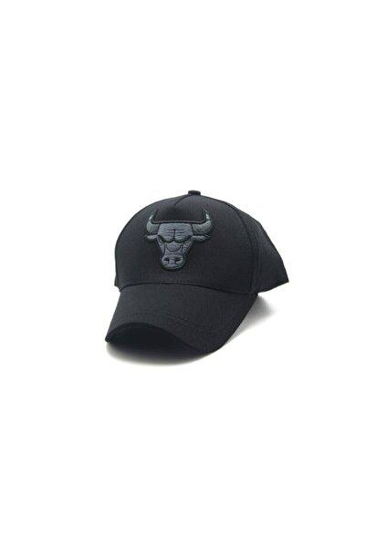 Unisex Gri Boğa Bulls Şapka