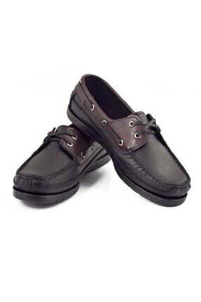 Erkek Siyah Hakiki Deri Ayakkabı 101