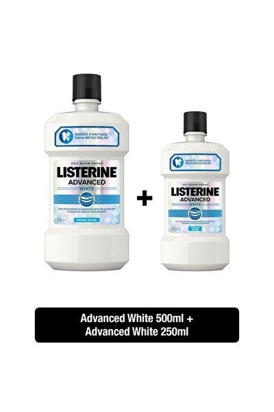 Advanced White Hafif Tat Alkolsüz Ağız Bakım Suyu 500 ml + 250 ml  Set