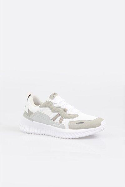 Erkek Beyaz Reflektör Detaylı Spor Ayakkabı A11y8009