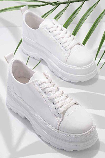Beyaz Kadın Sneaker K01868366609