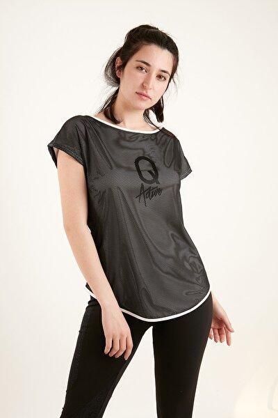 Kadın Astarlı File Tshirt