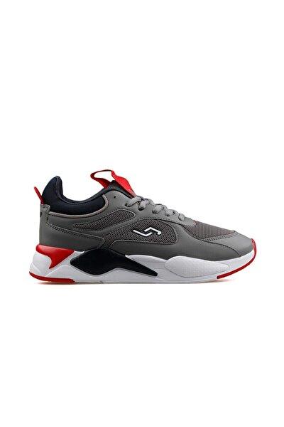 24770 Gri - Lacivert - Kırmızı Erkek Spor Ayakkabı