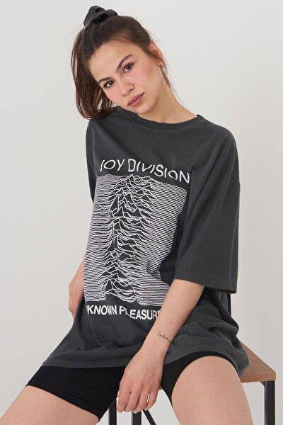 Kadın Füme Oversize T-Shirt P9567 - C5 Adx-0000024243