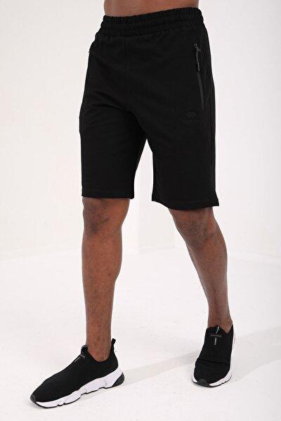 Nakışlı Siyah Erkek Şort T08ER-81136