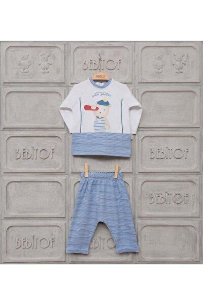 Erkek Bebek Mavi Denizci Ikili Takım 80074  3-9 Ay