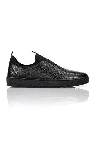 Siyah Hakiki Deri Günlük Erkek Ayakkabı