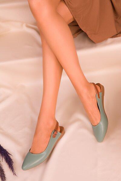 Yeşil Kadın Sandalet 16216