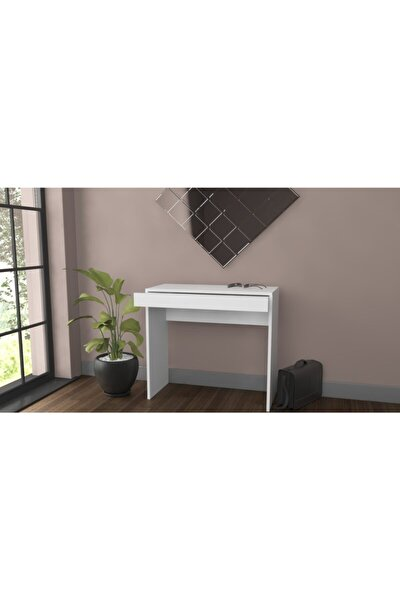 Arya Novella Mode Çekmeceli Beyaz Makyaj Masası/dresuar/çalışma Masası