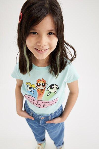 Kız Çocuk Powerpuff Lisanlı Kısa Kol Tişört