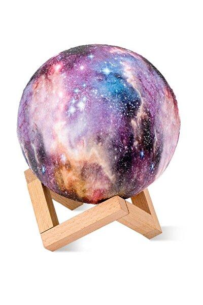 Dekoratif 3d Standlı Galaksi Gezegen Gece Lambası - Büyük Boy
