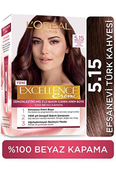 Excellence Creme Saç Boyası 5.15  Efsanevi Türk Kahvesi
