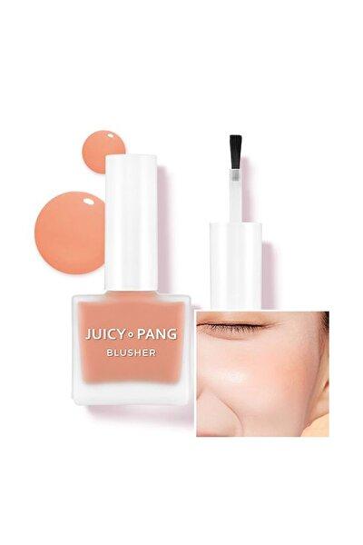 Doğal Görünüm Sunan Nemlendirici Likit Allık 9g. APIEU Juicy-Pang Water Blusher (OR01)