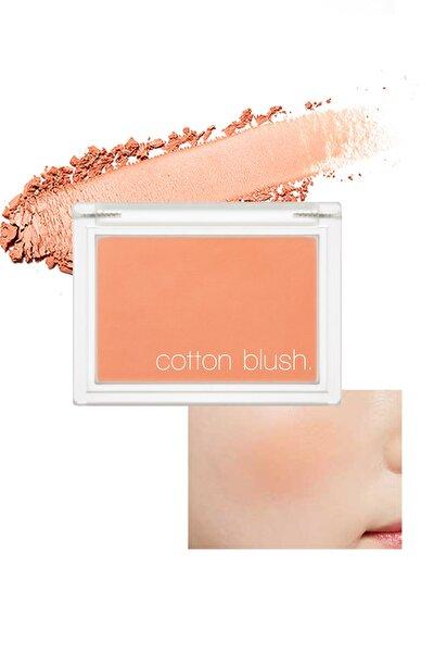 Yumuşak Dokulu Kolay Sürülebilen Allık Allık Cotton Blusher (Carrot Butter Cream)