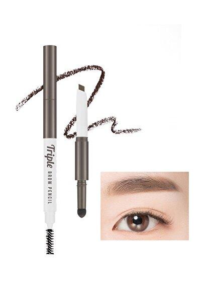 Üç İşlevli Kaş Kalemi ve Pudrası Triple Brow Pencil (Dark Brown)