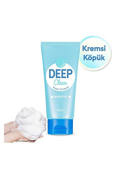 Kremsi Köpük Yumuşak Yüz Yıkama Köpüğü 130ml APIEU Deep Clean Foam Cleanser (Whipping)