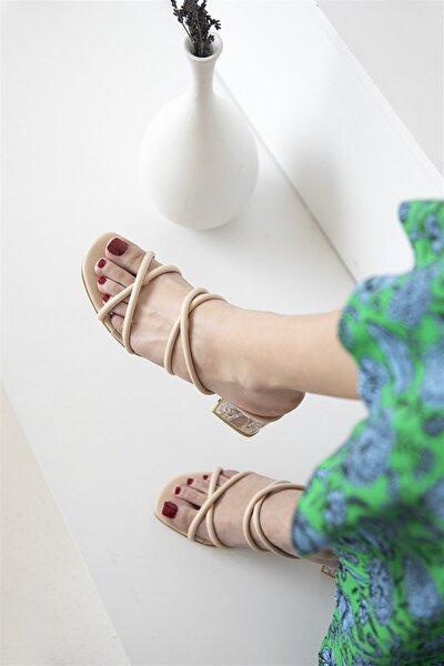 Paul Bayan Topuklu Sandalet Ten