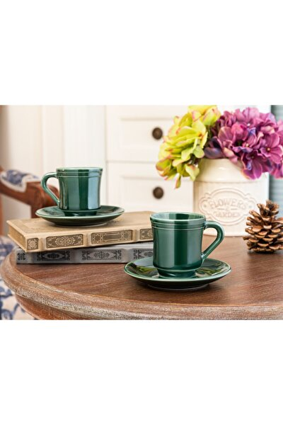 Yeşil Kahve Fincan Seti  2'li