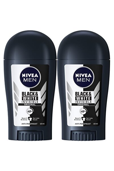 Men Invisible Black&White Original Erkek Deodorant Stick 40 ml  2'Li