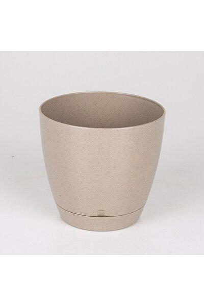 Plastik Begonya Saksı No:1 Bej 0,9 Litre 12x11 Cm
