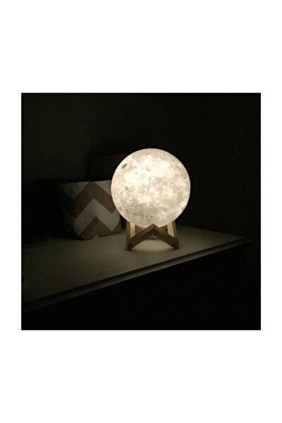 3d Standlı Ay Gece Lambası (36 Cm Çap)