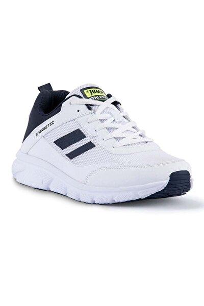 24718 Beyaz - Lacivert - Neon Yeşil Erkek Spor Ayakkabı