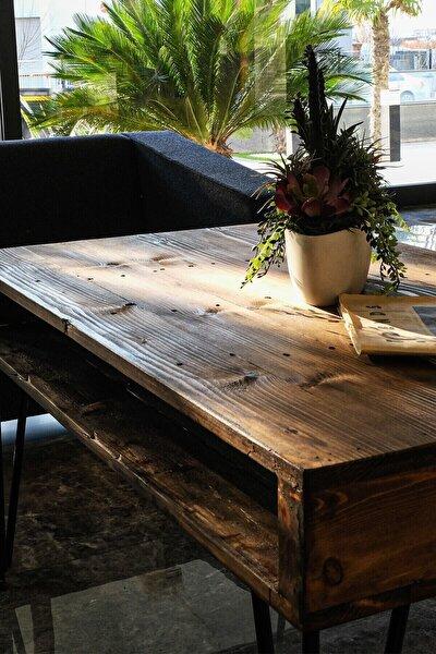 Ahşap Masif Ağaç Doğal Orta Masa Zigon Oturma Odası Salon Bahçe Kahve Sehpası