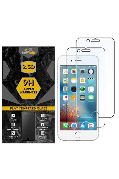 Iphone 6-6s Uyumlu Hd Netlikte 9h Sertlikte Temperli Düz Ekran Koruyucu Cam (2'li Paket)