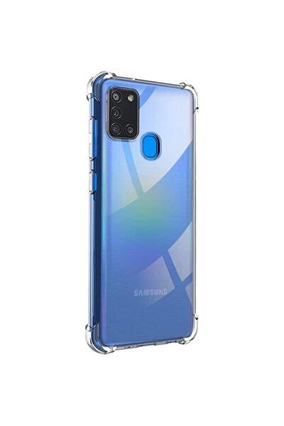 Galaxy A21s Kılıf Köşe Korumalı Anti Şok Sert Silikon