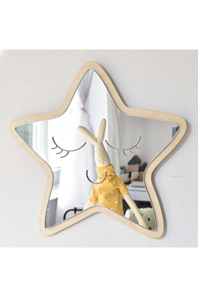 Yıldız Ayna Çocuk Odası Dekoru Kırılmaz Ahşap Akrilik Ayna
