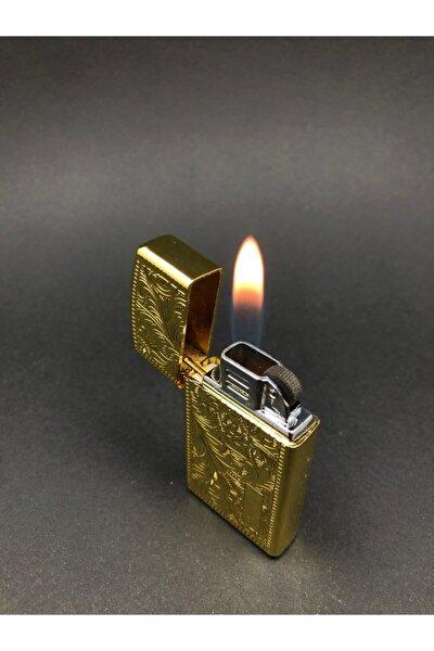 Gold Desenli Metal Çakmak