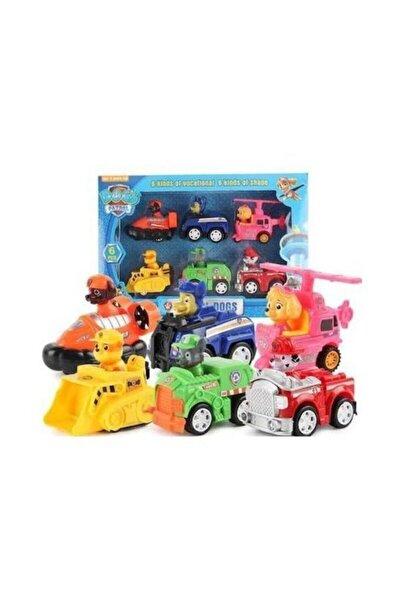 Oyuncak Görev Araçları 6 Karakter Ve Araçları Set  Altı Karakter Araba Set