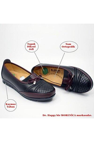 Kadın Bordo Tam Ortopedik Anne Ayakkabısı 112