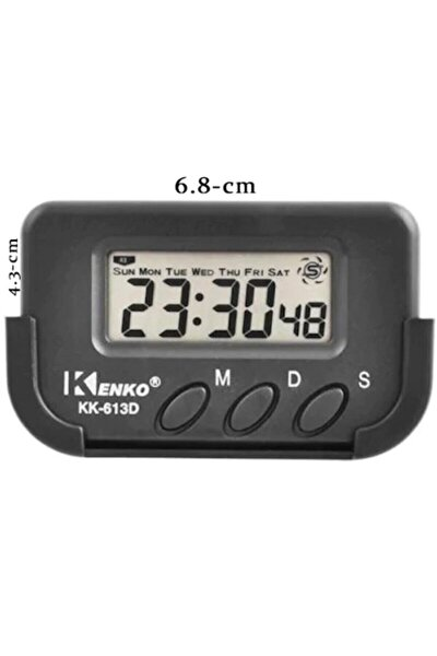 Kk613d Dijital Saat Küçük Masa Araba Saati Kronometre