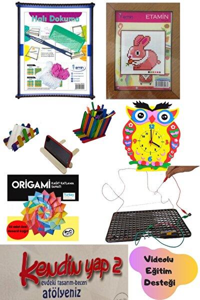 Kendin Yap 2 Atölyesi-etamin Kiti(KANEVİÇE)-halı Dokuma Tezgahı-yüzük Oyunu(ZZZAPPER CIZZZ)-origami