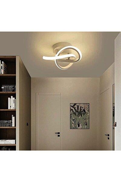 Modern Plafonyer Tavan Led Avize Krom Beyaz Işık
