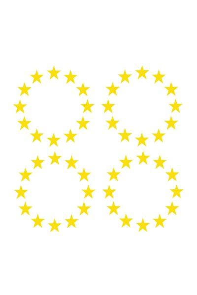 Plaka Ab Yıldızı 4 Adet 3*3 Cm Sarı