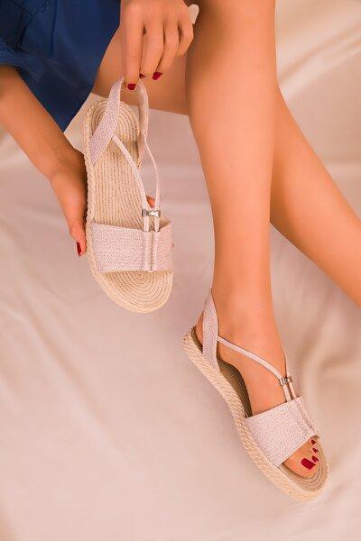 Bej Kadın Sandalet 14661