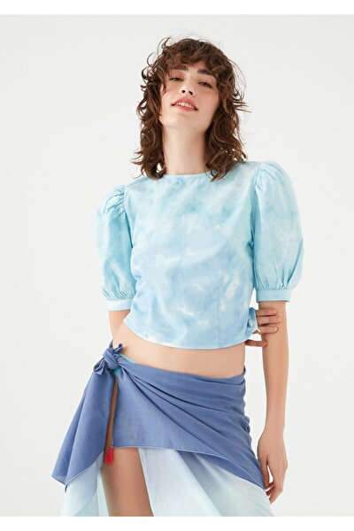 Kadın terranean Balon Kollu Batik Bluz 122867-35158