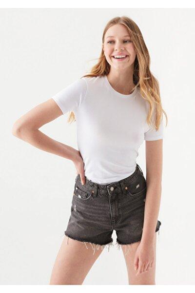 Lux Touch Beyaz Modal Tişört 1600963-620