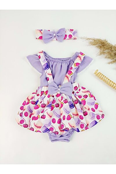 Kız Bebek Mor Elbise
