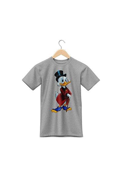 Unisex Gri Pamuklu Donald Duck T-shirt Pst3015