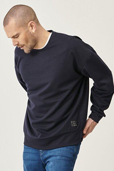 Günlük Rahat Sıfır Yaka Oversize Spor Sweatshirt