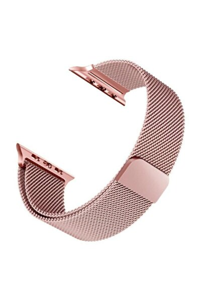 Apple Watch Hasır 38mm / 40mm Milanese Loop Kordon Rose Gold