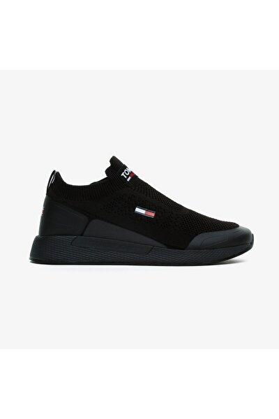 Erkek Siyah Bağcıksız Spor Ayakkabı