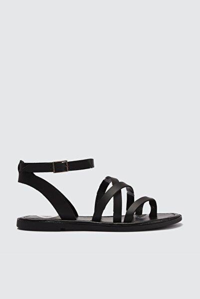 Siyah Kadın Sandalet TAKSS21SD0010