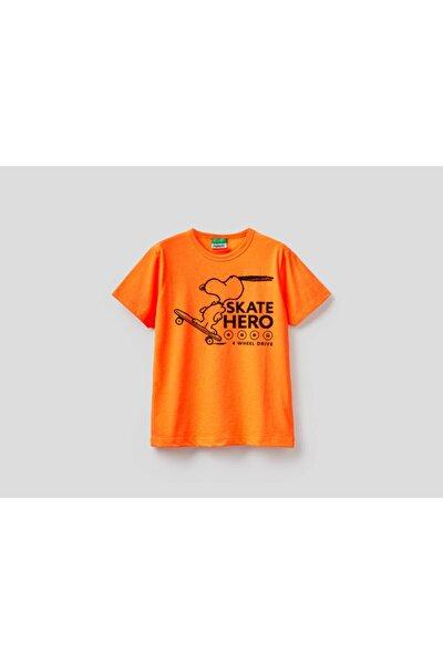 Çocuk Snoopy Baskılı Logolu T-shirt